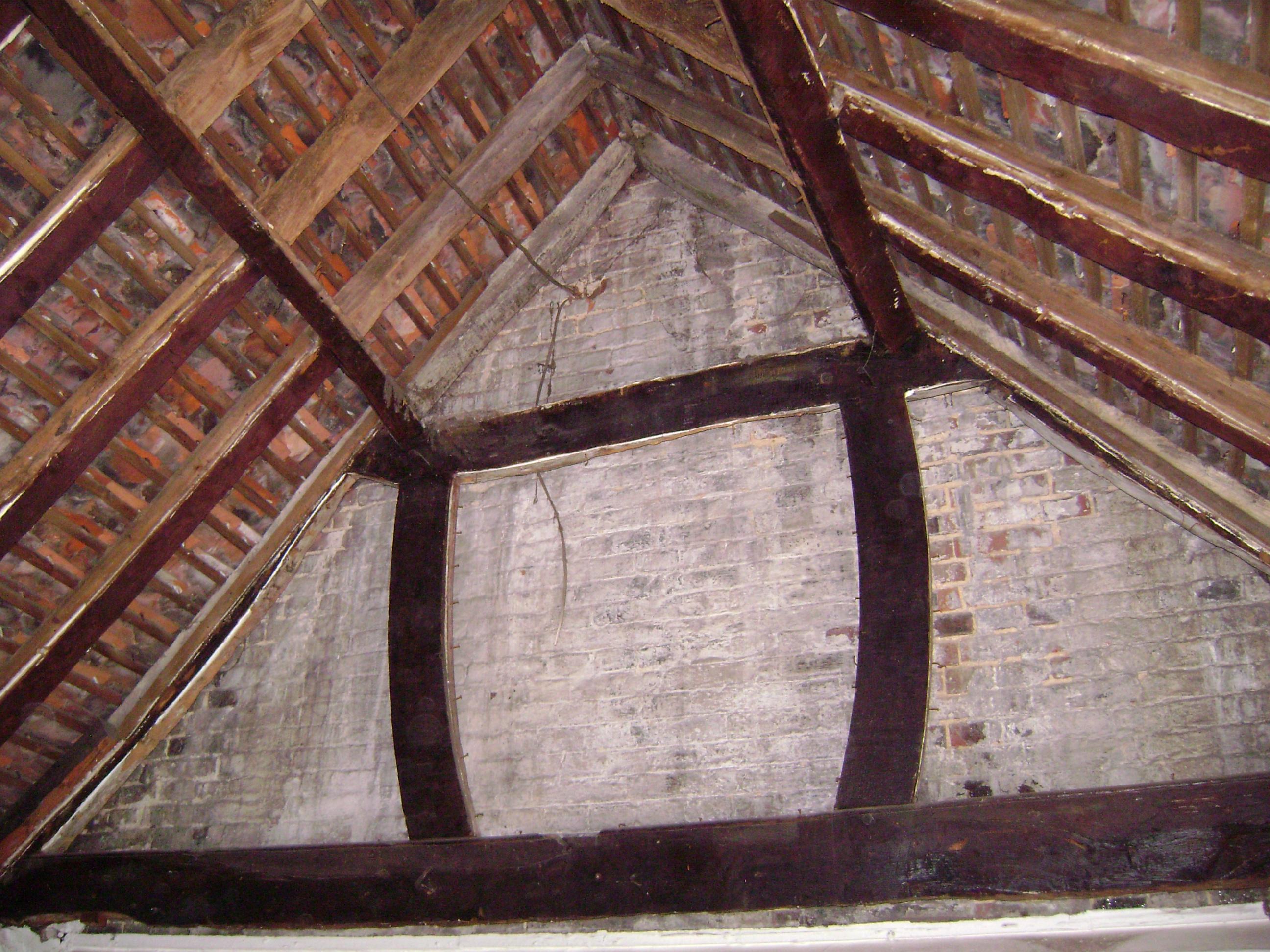 Barn Roof Before - Wood