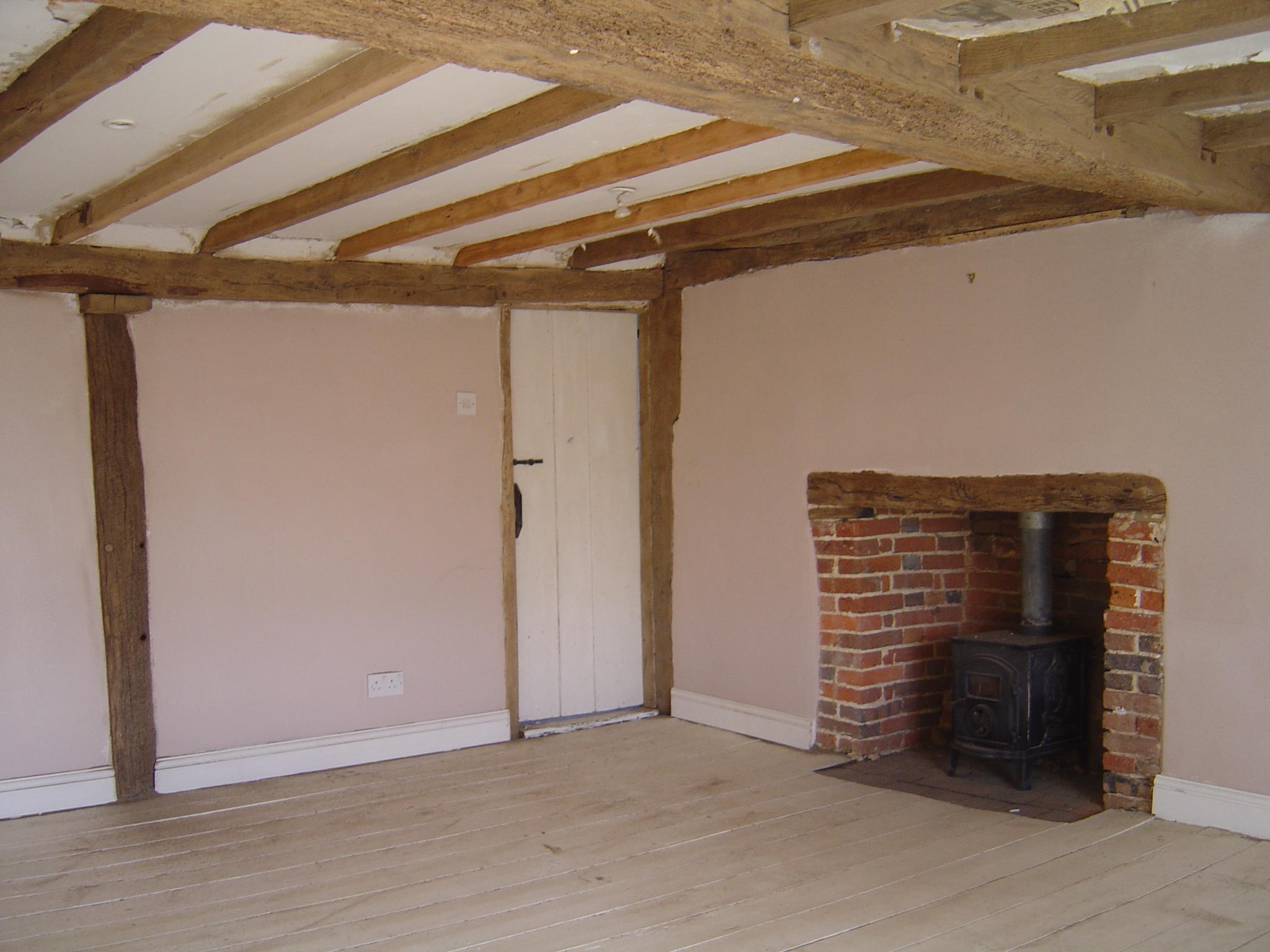 Beams Fireplace 1 - Wood